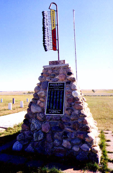 Old scout monument