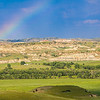 Rainbow Over the Emerald Green Badlands of North Dakota