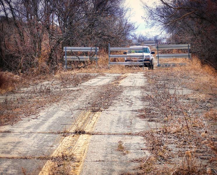 Highway 8 road block