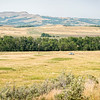 "The prairies surrounding the Killdeer Mountains are cow country, pastures for grazing and hay fields for winter feeding.<br /> <br /> You can own this image as wall decor or other products.  Just click the ""buy"" button."