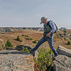 Scrambling the Hills Above Elkhorn Ranch, North Dakota