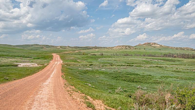 Driving the Backroads to Elkhorn Ranch, North Dakota
