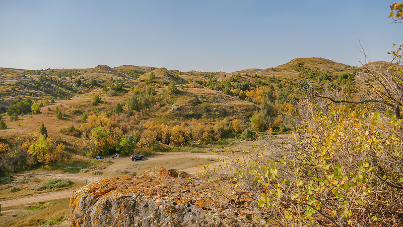 Fall Colors Glow at Elkhorn Ranch Campground, North Dakota