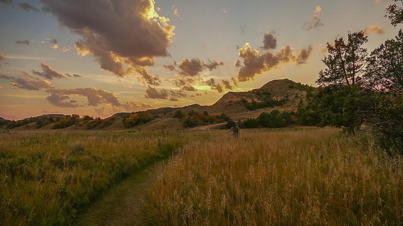 Sunset at Elkhorn Ranch Campground, North Dakota