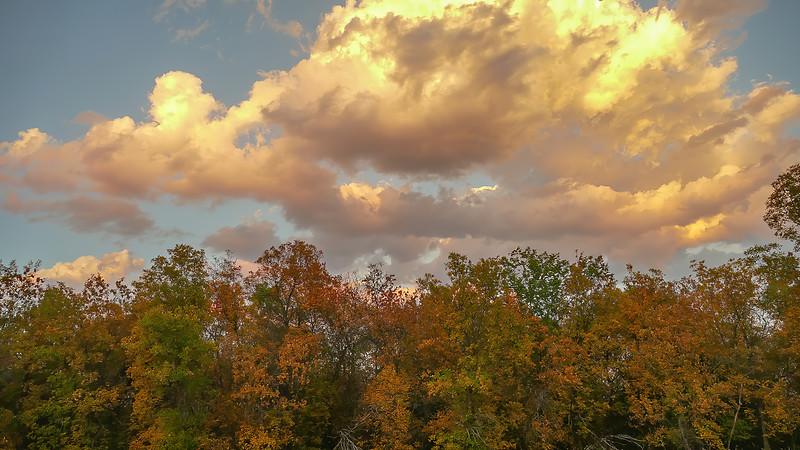 Fall Skies Over Elkhorn Ranch in North Dakota