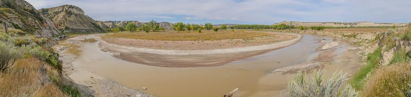 Oxbow on the Little Missouri River Near the Elkhorn Ranch, North Dakota