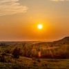 Sun Sets Over the Badlands West of Theodore Roosevelt's Elkhorn Ranch, North Dakota