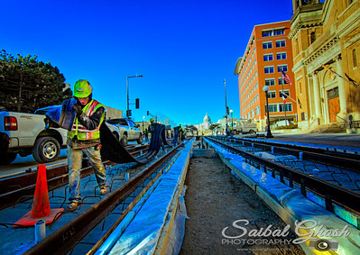 New train stop at 10th Street.  All Copyrights Reserved by Saibal Ghosh.