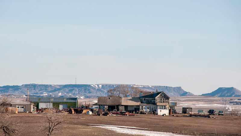 Farmstead and Sentinel Butte