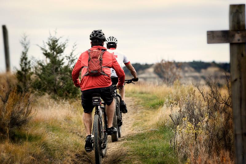 Two mountain bike riders on the Maah Daah Hey