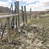 First gate, wet spring.  The Maah Daah Hey, North Dakota