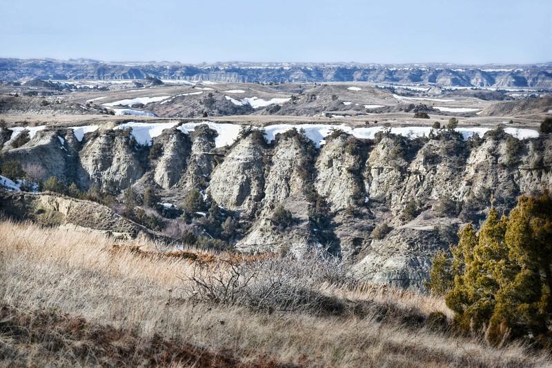 View from Devils Pass.  Badlands. North Dakota
