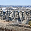 View from Devils Pass.  Badlands. North Dakota