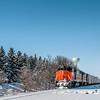 Train through Wilton in the snow