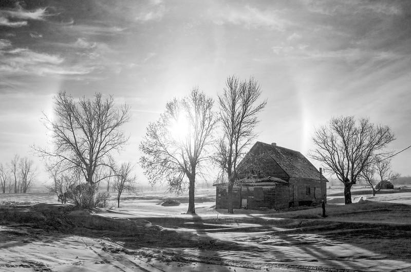 Sundogs and the Wilton abandoned house