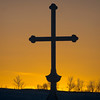 Cross at the last moments of sunset