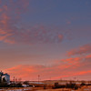 Prairie skies at sunset