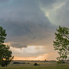 Wall cloud spawns funnel cloud
