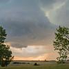 Wall cloud spawns funnel cloud