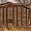When railroads abandoned their old wooden box cars Cooperstown area farmers used them as barns and storage bins.