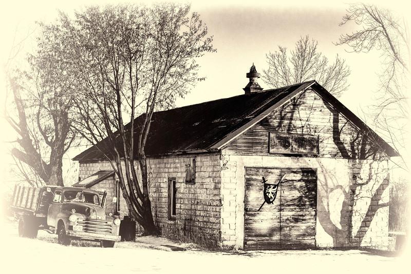 Washburn Blacksmith shop bw