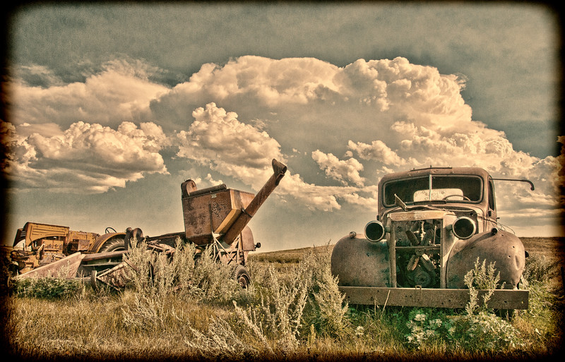 Vintage abandoned machinery