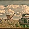 Vintage abandoned machinery