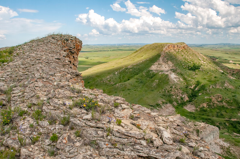 The View, Looking East, from Sentinel Butte in Western North Dakota.