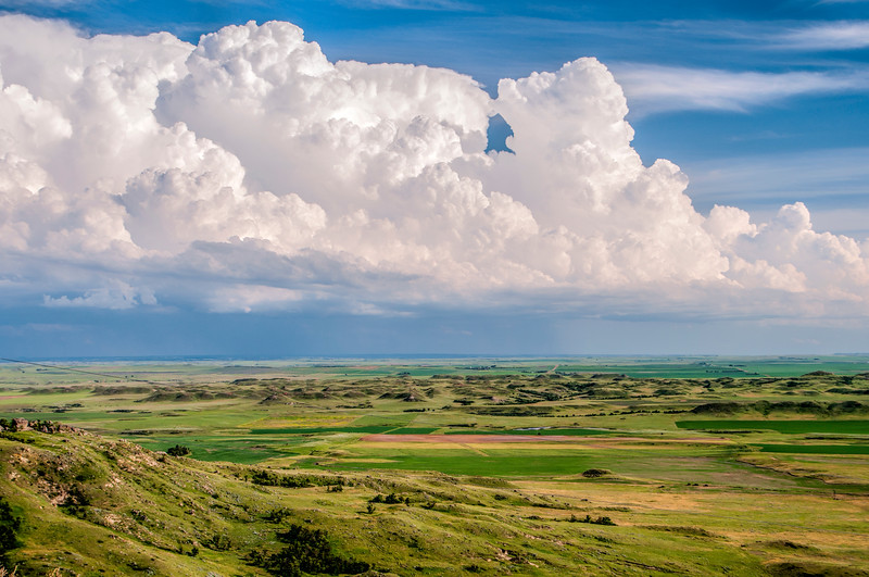 Storm Clouds to the Southeast as We Hike Sentinel Butte, North Dakota