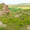 Summer View of Square Butte, from Sentinel Butte, North Dakota