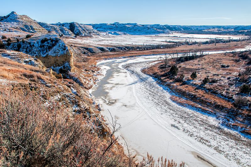 Little Missouri River in winter