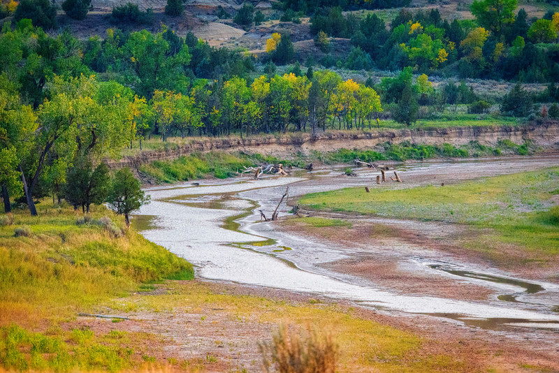 Dried up Little Missouri River