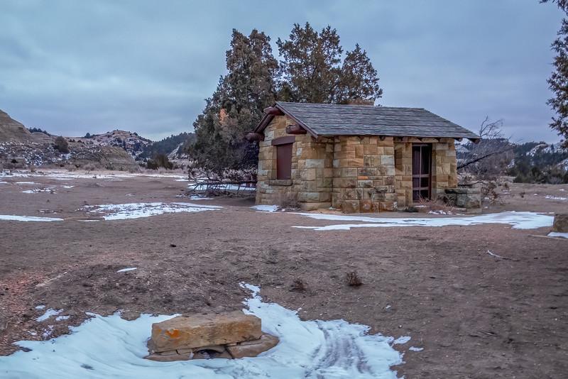Hand Hewn Rock Culvert and Entrance Building, Old East Entrance, Theodore Roosevelt National Park, North Dakota