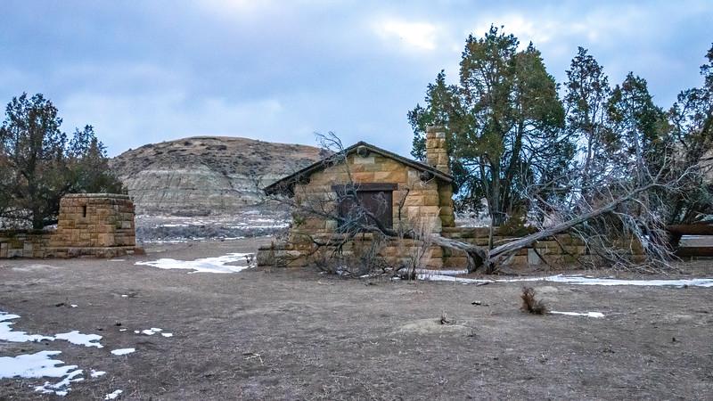 Entry Gate of Old East Entrance, Theodore Roosevelt National Park, South Unit, North Dakota