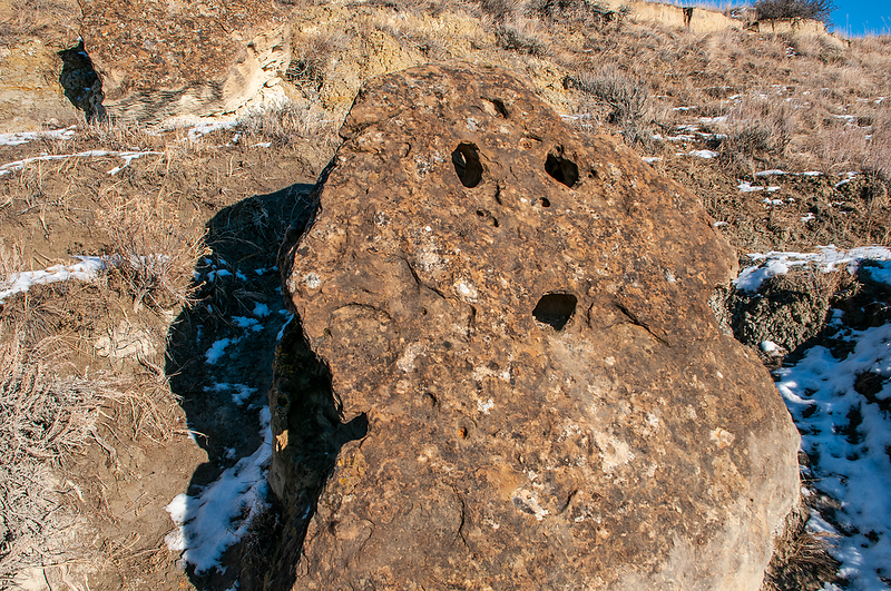 A very surprised rock!