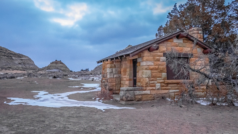 Old East Entrance, Looking North On Original Entrance Road, Theodore Roosevelt National Park, North Dakota