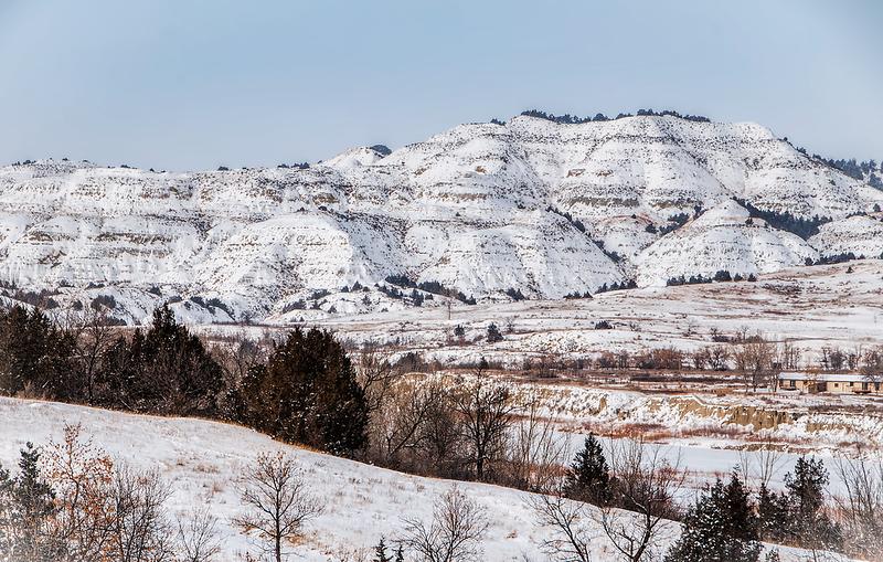 North Unit snowy hill