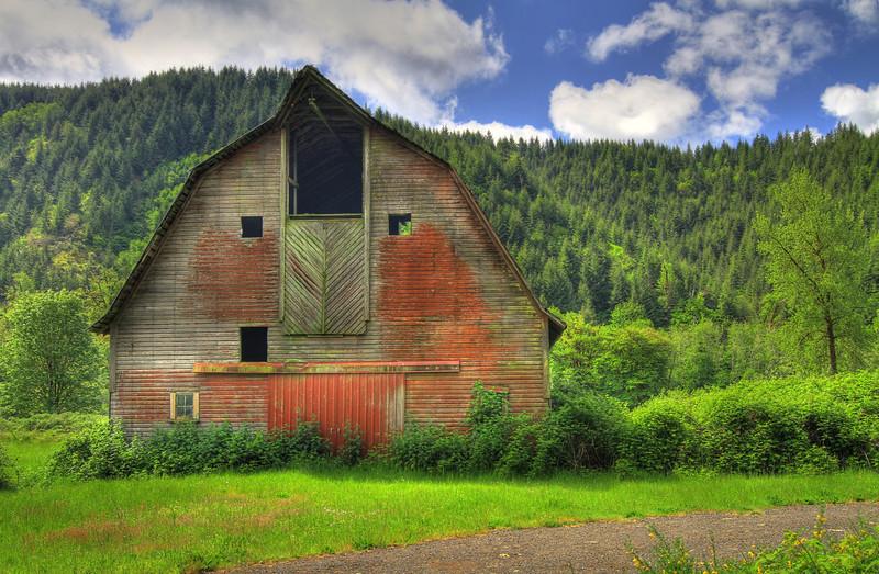 Blushing barn