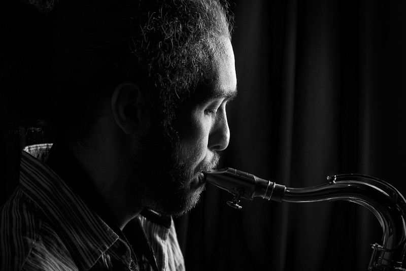 Saxophon Player | Black & White | People Photography Daniel Good | goodshots.ch