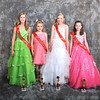 Miss Preteen - pictured left to right - Zarabeth Adams (3rd), Alexis Clark (2nd), Maggie Kate Kuchta (Miss Preteen) and Anna McVeigh (1st) - Photo ©Joey Brent, 2012