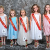 Tiny Miss I - pictured left to right - Ashlyn Hill (2nd), Anniston Brooke Wilbourn (1st), Taylor Leigh Snider (Tiny Miss I), Kensley DeAnna Walls (3rd) and Lydia Ware (4th) - Photo ©Joey Brent, 2012