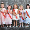 Petite Miss - Pictured left to right - Whitt Marie Paul (1st), Lindsey Evans King (2nd), Madeline Vollbracht (Petite Miss), Angel Livingston (4th) and Isabella Humphreys (3rd) - Photo ©Joey Brent, 2012