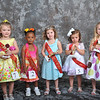 Little Petite Miss - Pictured left to right - Jasi Gaither (3rd), Sha'Dayla Michelle Daniels (4th), Payton Grace Darby (Little Petite Miss), Khloe Brown (1st) and Kenley Pullen (2nd) - Photo ©Joey Brent, 2012