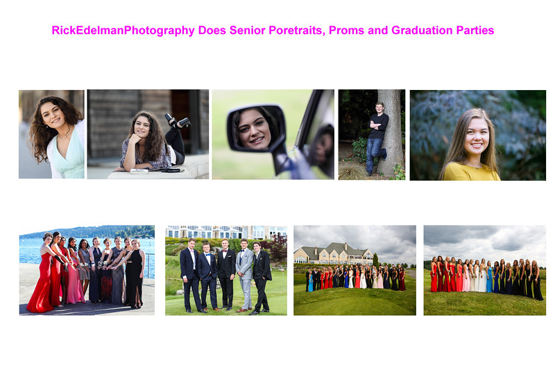 Senior Portraits, Proms & Graduation Parties