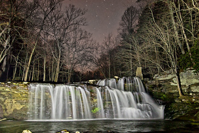 Brush Creek Falls at Night