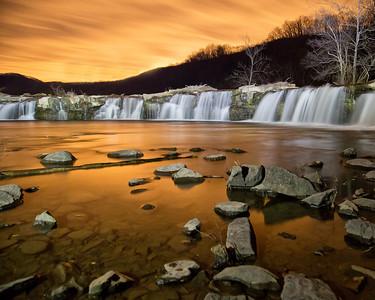 Sandstone Falls at Night