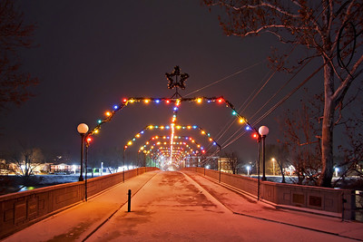 Alderson Memorial Bridge at Christmas