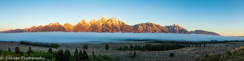 Teton Mountain morning panorama