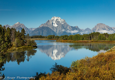 Mountain reflections at Oxbow Bend