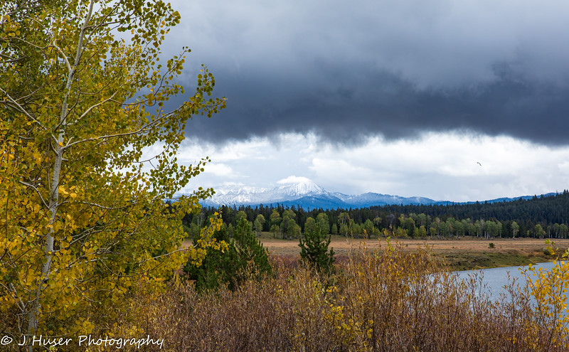 The clearing storm over the Teton mountains